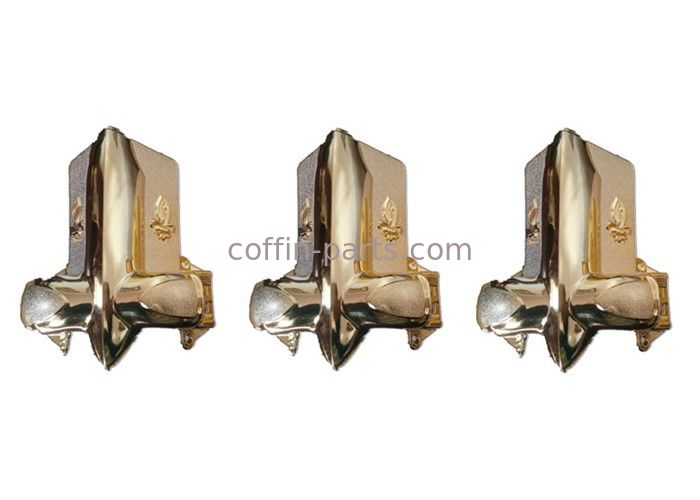 Plastic Injection Molding Coffin Accessories , Gold - Plating Funeral Accessories With Steel Bar