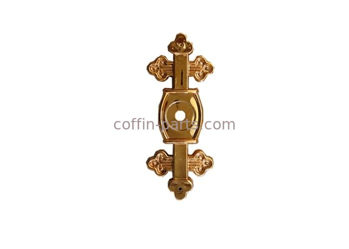 Funeral Coffin Bracket Cross 6# Shape Gold Color PP Recycle Plastic Material