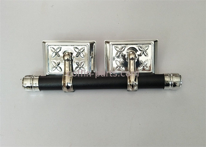 Moulded Coffin Hardware / Casket Handles Wholesale Silver And Black